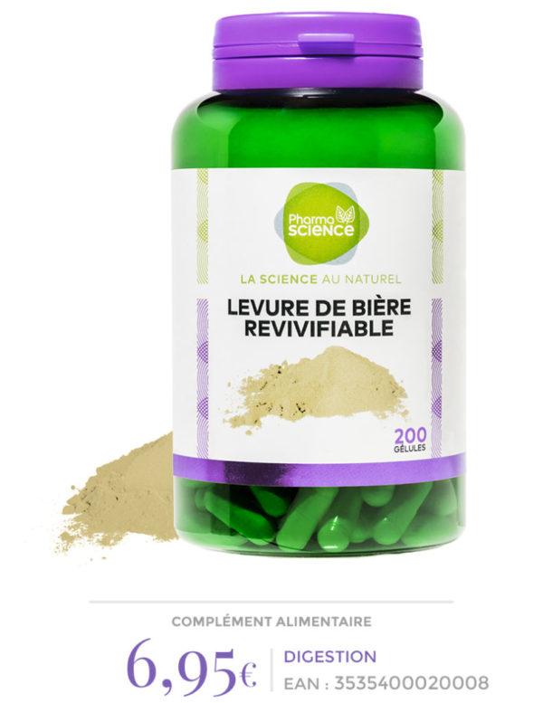 levure de biere revivifiable Pharmascience
